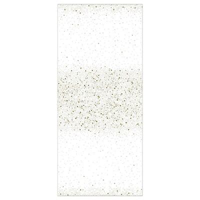 DOFTMINNE شرشف طاولة, منقوش/أبيض/لون ذهبي, 145x240 سم