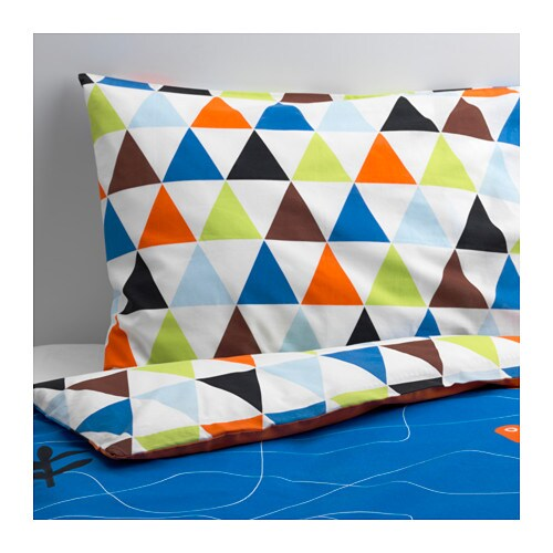 DRAKDJUR Quilt cover and pillowcase IKEA Cotton, soft and nice against your child's skin.
