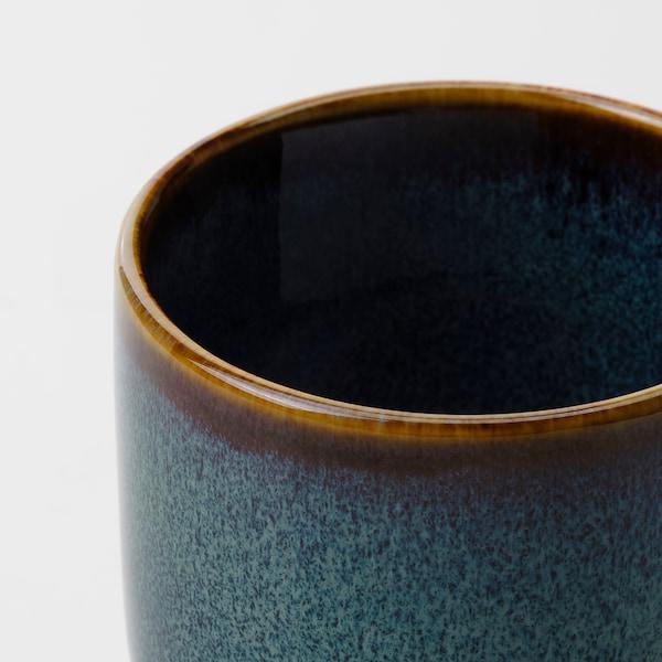DRÖMSK آنية نباتات, داخلي/خارجي أزرق غامق, 6 سم