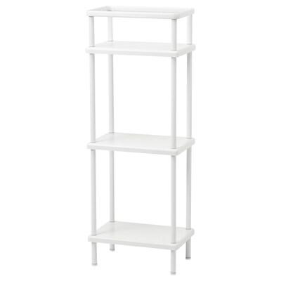 DYNAN Shelf unit with towel rail, white, 40x27x108 cm