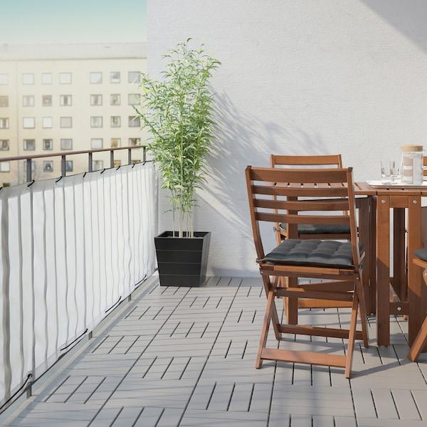 DYNING حاجز خصوصية للشُرفة, أبيض, 250x80 سم