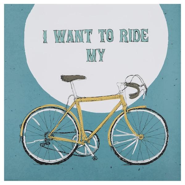 Buy Edelvik Poster I Want To Ride My Bike Online Ikea