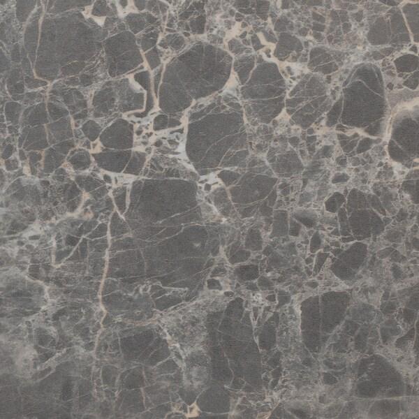 EKBACKEN سطح عمل, رمادي غامق شكل المرمر/صفائح رقيقة, 246x2.8 سم