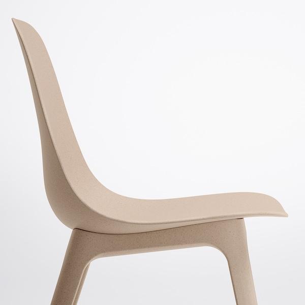 EKEDALEN / ODGER طاولة و4 كراسي, بني/أبيض بيج, 120/180 سم
