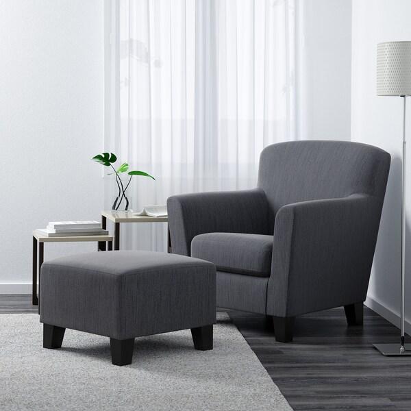 EKENÄS footstool Hensta grey 53 cm 53 cm 40 cm