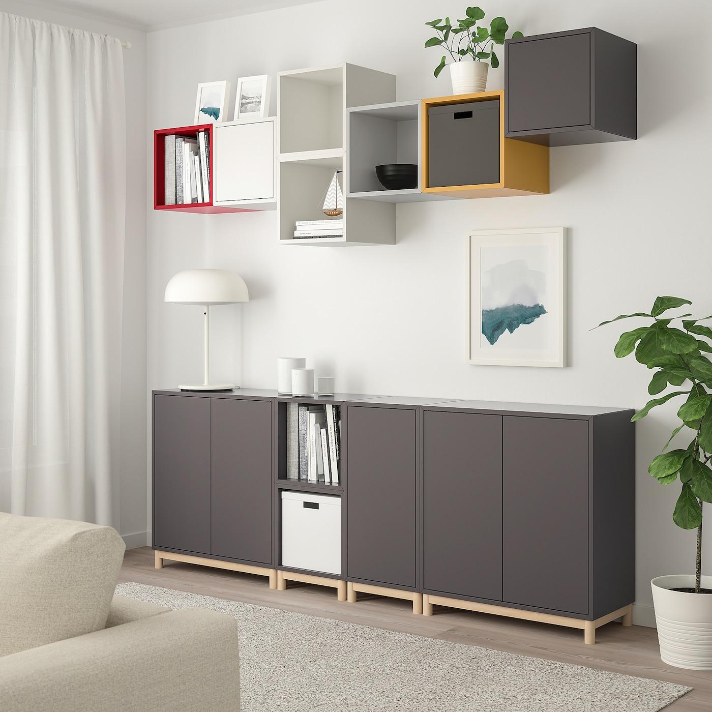 Cabinet Combination With Legs Eket Multicolour 1