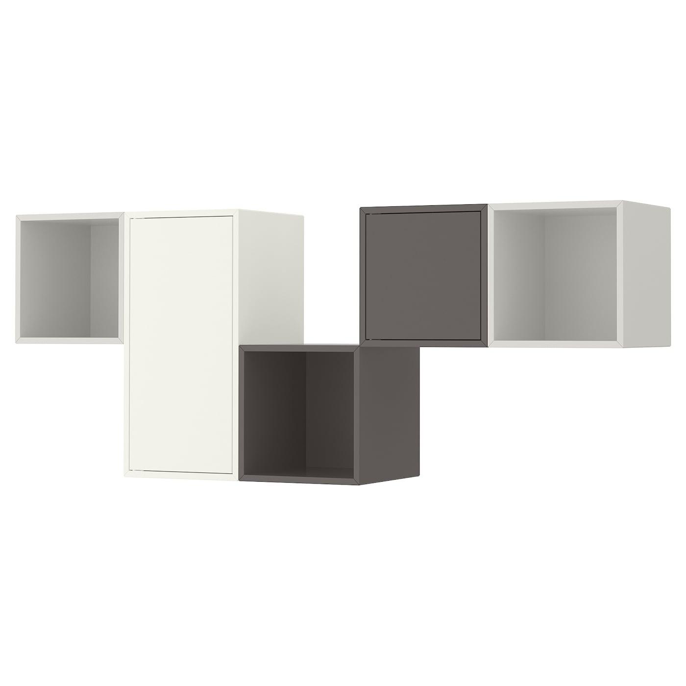 Wall Mounted Cabinet Combination Eket White Light Grey Dark Grey