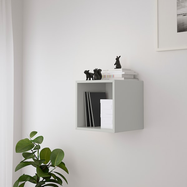 EKET wall-mounted shelving unit light grey 35 cm 35 cm 35 cm
