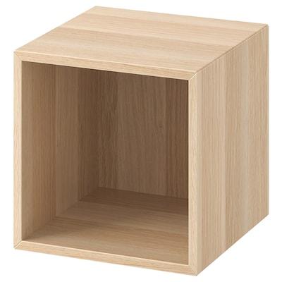 EKET Wall-mounted shelving unit, white stained oak effect, 35x35x35 cm