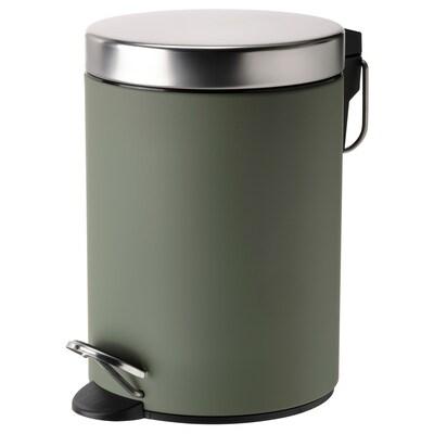 EKOLN Waste bin, grey-green