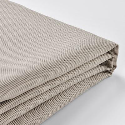 EKTORP غطاء كنبة ثلاث مقاعد, مع أريكة طويلة/Totebo بيج فاتح