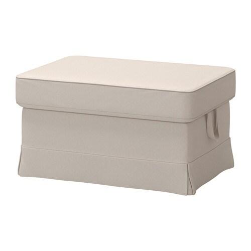 EKTORP Footstool - Lofallet beige - IKEA