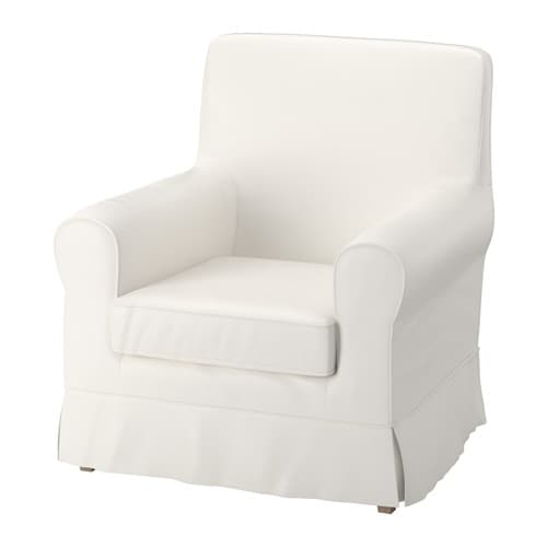 ektorp jennylund armchair cover sten sa white ikea. Black Bedroom Furniture Sets. Home Design Ideas