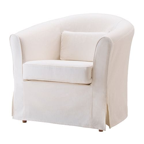EKTORP TULLSTA Armchair cover IKEA Easy to keep clean; removable, machine washable cover.  Pillow included;  provides lumbar support.