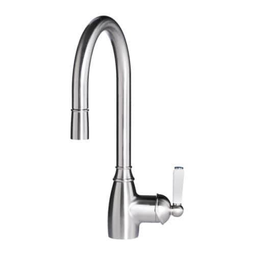 ELVERDAM Single-lever kitchen mixer tap, pull-out, stainless steel colour