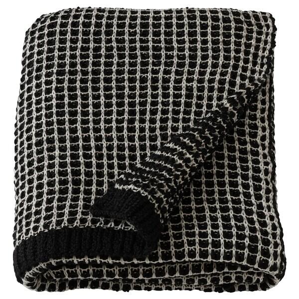 ENGLAFREJA غطاء, أسود/ أبيض, 130x170 سم