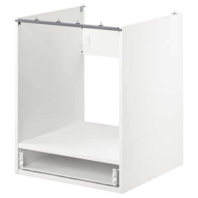 ENHET خزانة قاعدة لفرن مع درج, أبيض, 60x60x75 سم