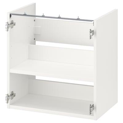ENHET Base cb f washbasin w shelf, white, 60x40x60 cm