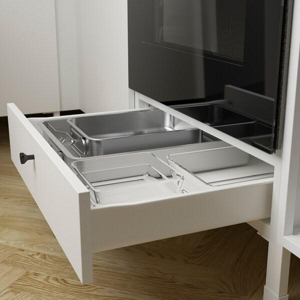 ENHET Corner kitchen, anthracite/white