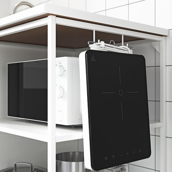ENHET مطبخ, أحمر/أبيض, 183x63.5x222 سم