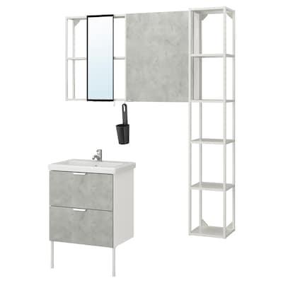 ENHET / TVÄLLEN أثاث حمام، طقم من 16
