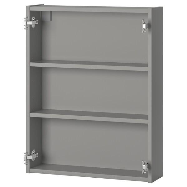 ENHET خزانة حائط مع رفين, رمادي, 60x15x75 سم