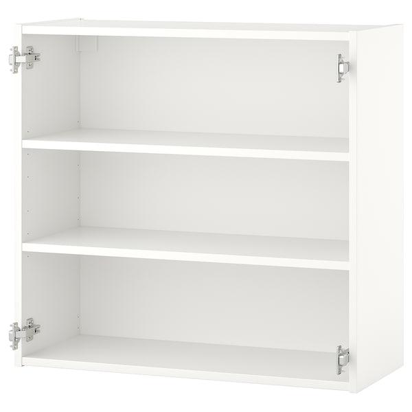 ENHET خزانة حائط مع رفين, أبيض, 80x30x75 سم
