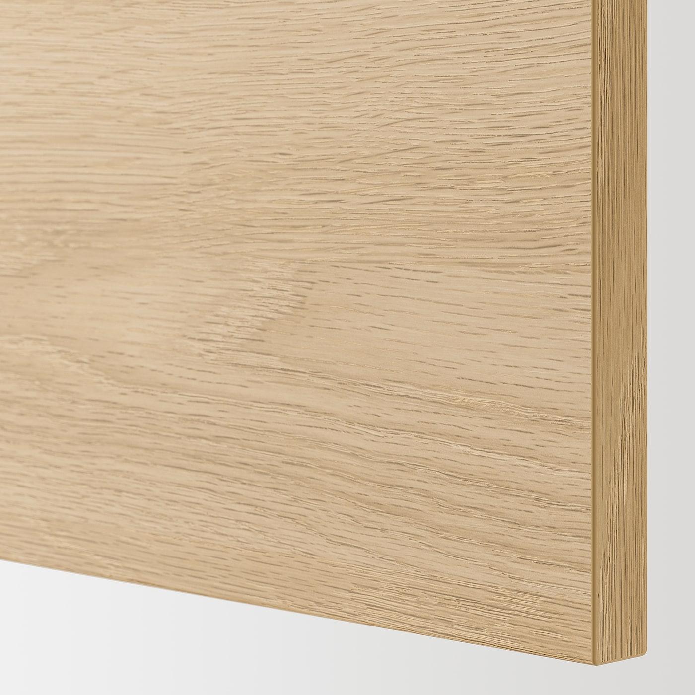 ENHET خزانة حائط مع رفين/باب, أبيض/شكل السنديان, 40x32x75 سم