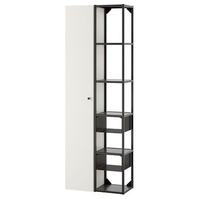 ENHET Wall storage combination, anthracite/white, 60x30x180 cm