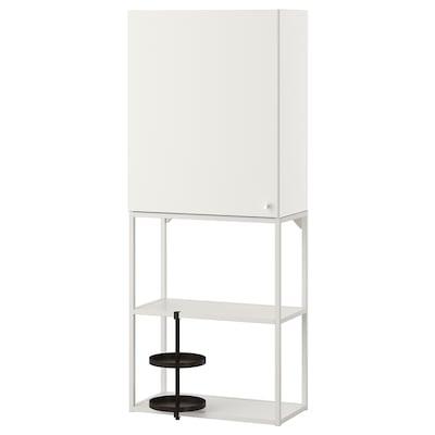ENHET تشكيلة تخزين حائطية, أبيض, 60x32x150 سم