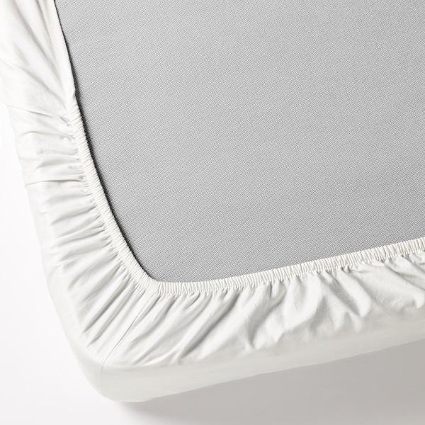 FÄRGMÅRA Fitted sheet, white, 180x200 cm