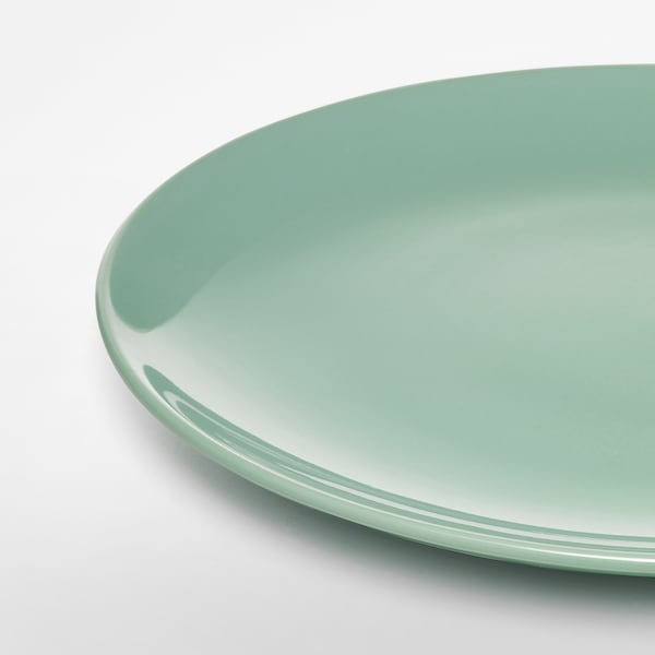 FÄRGRIK Plate, light green, 27 cm