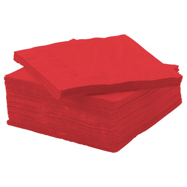 FANTASTISK مناديل ورقية, أحمر, 24x24 سم