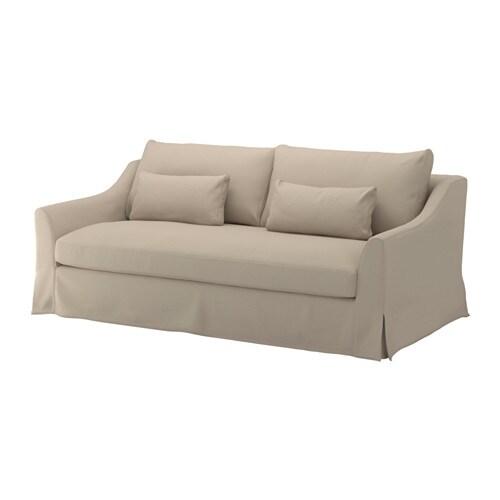 """F""""RL–V Cover for 3 seat sofa Flodafors beige IKEA"""