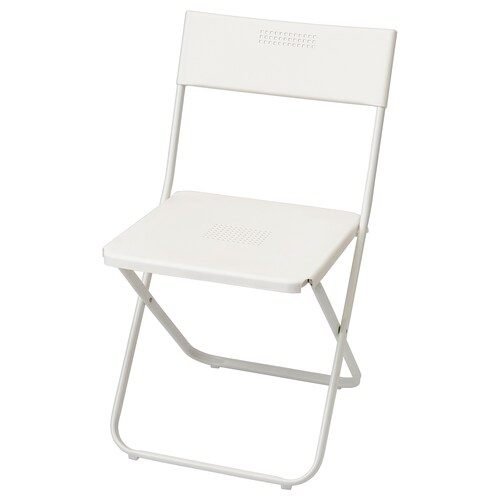 FEJAN chair, outdoor foldable white 100 kg 44 cm 42 cm 89 cm 40 cm 39 cm 45 cm