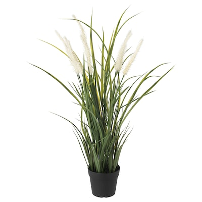 FEJKA Artificial potted plant, in/outdoor decoration/grass, 9 cm