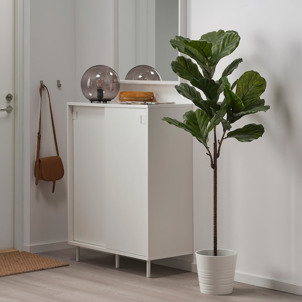 FEJKA Artificial potted plant, in/outdoor fiddle-leaf fig, 19 cm