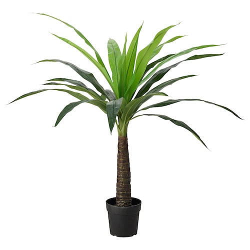 FEJKA artificial potted plant in/outdoor palm 24 cm 140 cm