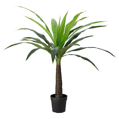 FEJKA Artificial potted plant, in/outdoor palm, 24 cm