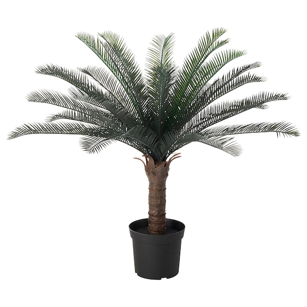 FEJKA Artificial potted plant, in/outdoor sago palm, 19 cm