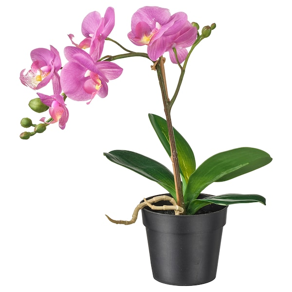 FEJKA Artificial potted plant, Orchid lilac, 9 cm