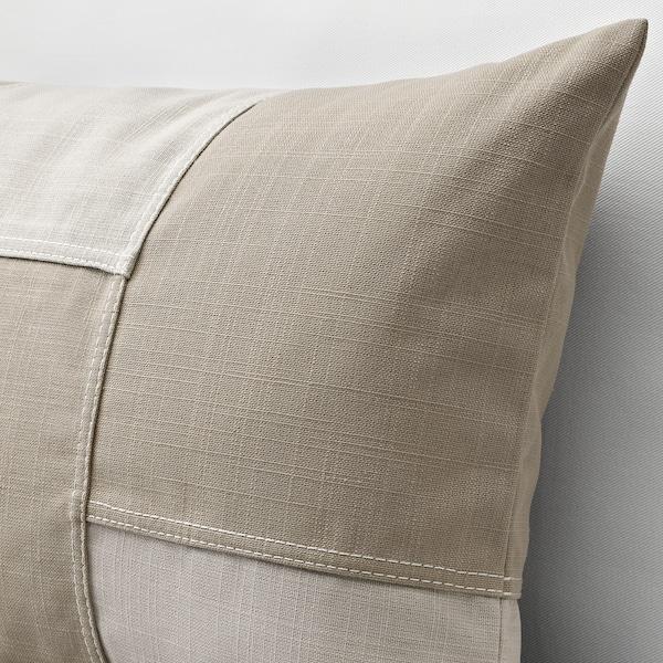 FESTHOLMEN غطاء وسادة, داخلي/خارجي/بيج فاتح بيج, 40x65 سم
