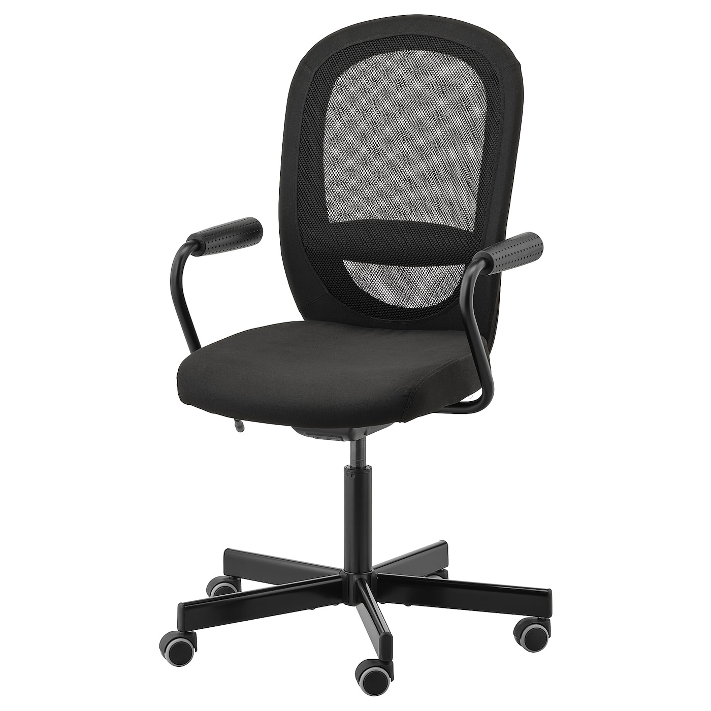 FLINTAN / NOMINELL Office chair with armrests - black