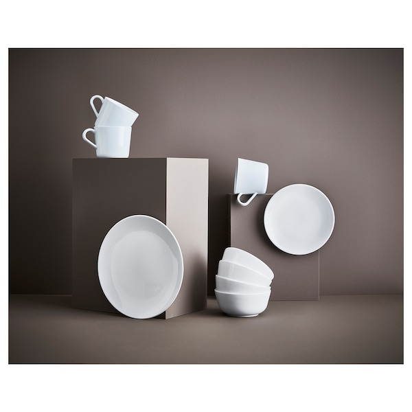 FLITIGHET Plate, white, 26 cm