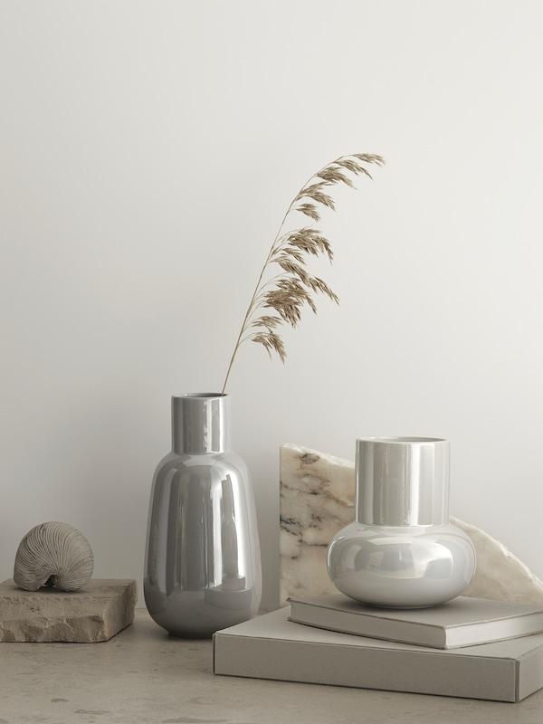 FNITTRIG Vase, white, 17 cm