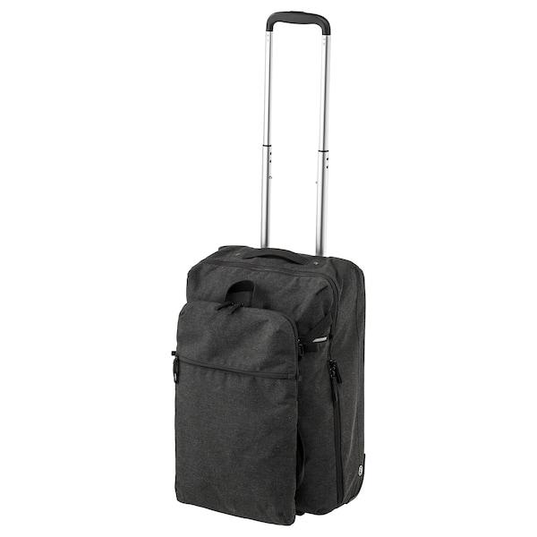 FÖRENKLA cabin bag on wheels and backpack dark grey 34 cm 20 cm 52 cm