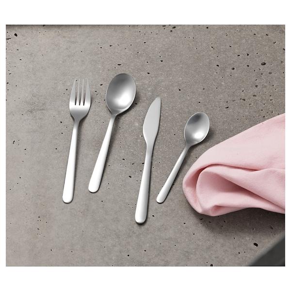 FÖRNUFT طقم أدوات تناول الطعام 24 قطعة., ستينلس ستيل