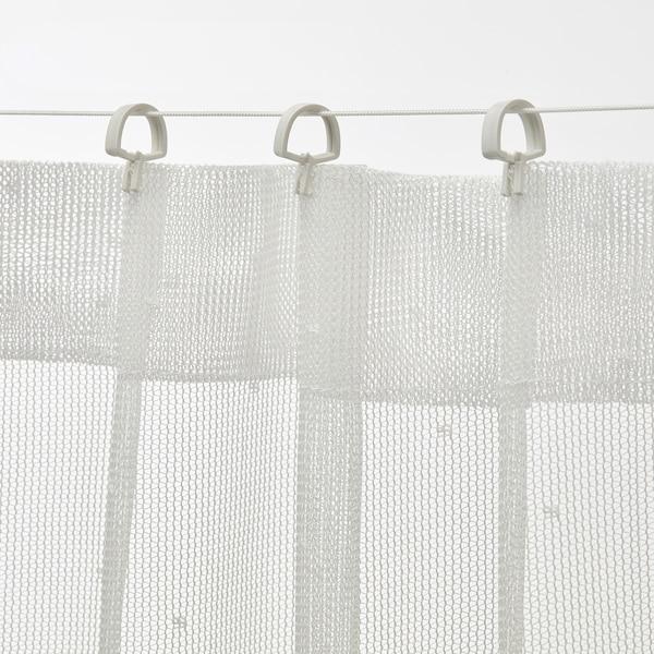 FÖRSYNT Curtain wire, white, 200 cm