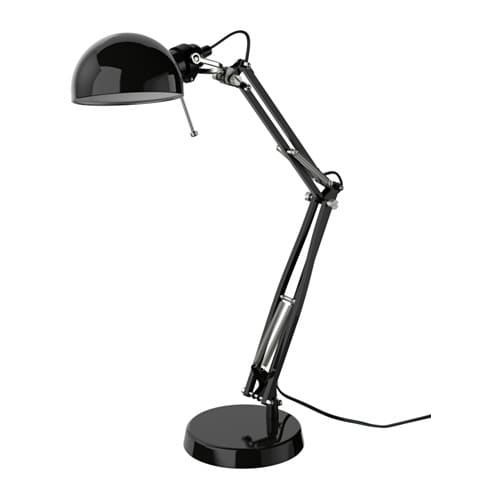 FORSÅ Work lamp IKEA You can easily direct the light where you want it because the lamp arm and head are adjustable.