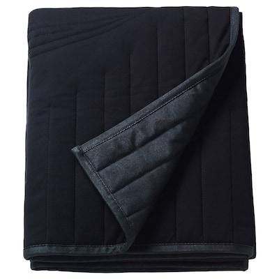 FREKVENS Blanket, black, 120x210 cm